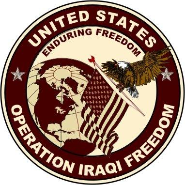 Military Vet Shop Operation Iraqi Freedom Window Car Bumper Sticker Vinyl Decal 3.8