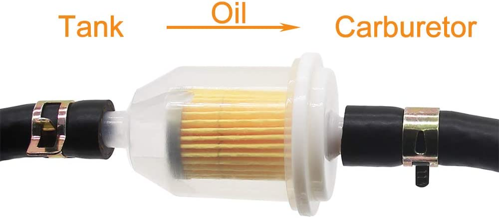 tubo carburante con filtro carburante e fascette stringitubo per scooter per auto e moto SWNKDG Kit tubo carburante 1//4 2 metri 6 x 12 mm