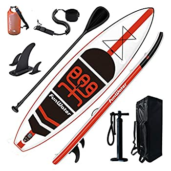 """FunWater Inflatable Stand Up Paddle Board 11'×33""""×6"""""""