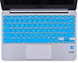 CaseBuy Ultra Thin Silicone Keyboard Protector Cover for ASUS C200 C200MA C201 C201PA C202SA ChromeBook 11.6 Inch Laptop US Version (Blue)