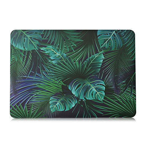 Rnbers Soft-Touch Hard Shell Case Cover for MacBook Pro 15 15.4 Inch Retina A1398 (NON CD-ROM Drive) - Palm Leaves