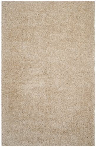 Safavieh Venice Shag Collection SG256C Handmade Champagne Polyester Area Rug (5′ x 8′)