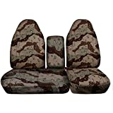 1997-2000 Ford F-150 Camo Truck Seat Covers (Front 40/60 Split Bench) with Opening Center Console/Solid Armrest: Desert Storm Camouflage (16 Prints) 1998 1999 F-Series F150