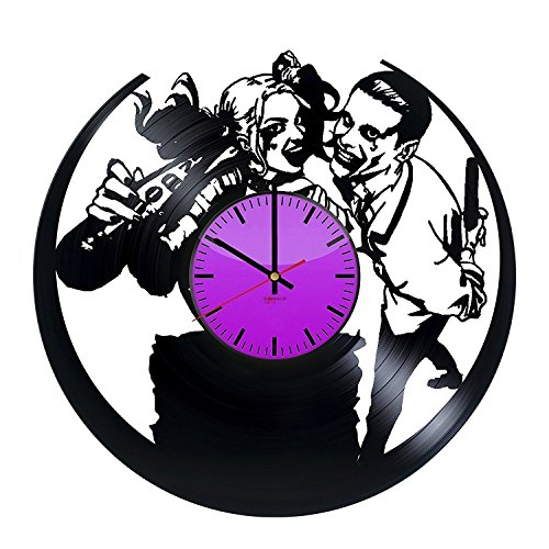 Joker and Harley Quinn HANDMADE Vinyl Record - Get unique home room wall decor - Gift ideas for boys and girls,friends - Superheroes Figures Unique Art Design ()