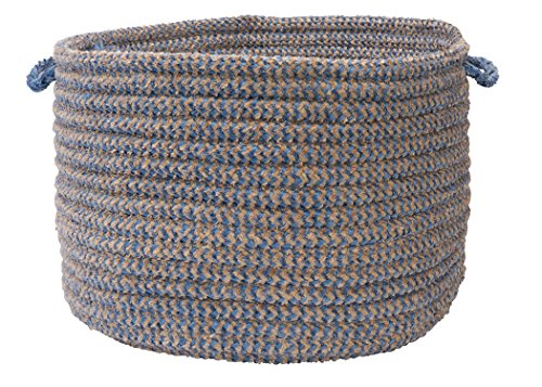 Colonial Mills Softex Check Utility Basket, 14 by 10-Inch, Blue Ice