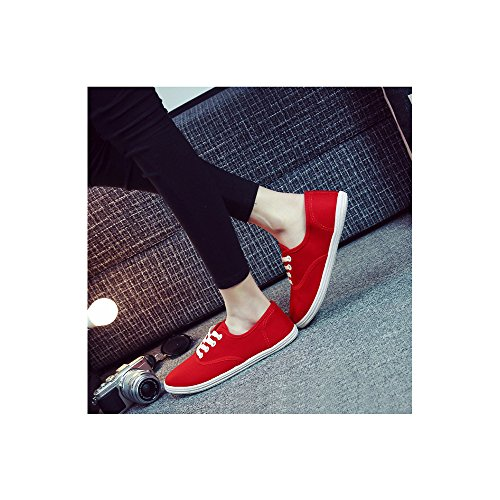 Mode Chaussure Sneakers Ochenta Sport En Léger Femme De Rouge Baskets Basse Tennis Toile fx0UI0wpq