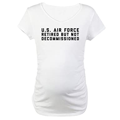 5eaebabc CafePress USAF Retired But Not Decommissio Cotton Maternity T-Shirt, Cute &  Funny Pregnancy