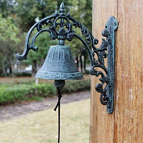 アンティークドアベル 素朴な鋳鉄錬鉄ベルドアベルの家の壁の装飾庭の装飾ドアベル 引き戸 ドア兼用 (Color : Multi-colored, Size : Free size)