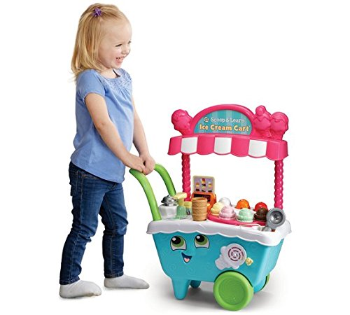 Brand New Kids Leapfrog Scoop and Learn Ice Cream Cart 20 Playing Pieces Play Set