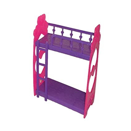 Amazon Com Magideal Dollhouse Miniature Plastic Bunk Bed For 10cm