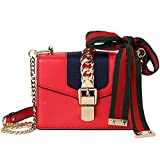 Macton cowskin Genuine Leather Women cross body bag MC-9008 (Small Size 7.8'', Red)