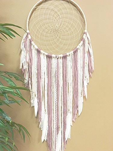 Lavender Dreamcatcher, Purple Wallhanging, Boho Dreamcatcher