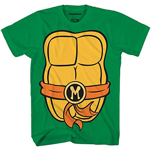 Teenage Mutant Ninja Turtles TMNT Mens Costume T-Shirt (Extra Large, Michelangelo)