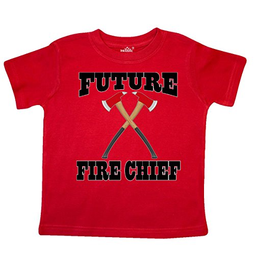 Childs Fireman Outfit (Inktastic - Future Fire Chief Firefighter Toddler T-Shirt 3T Red)
