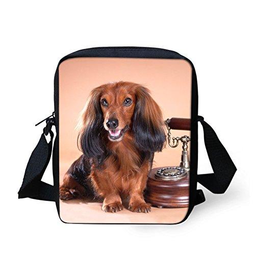 Messenger Dachshund Small Dog Bag 3 for Women Handbag Cross Travel Coloranimal Adjustable body 5TvUqOwv