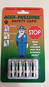 Accu-pressure Safety Caps 32 PSI (Set of 4)