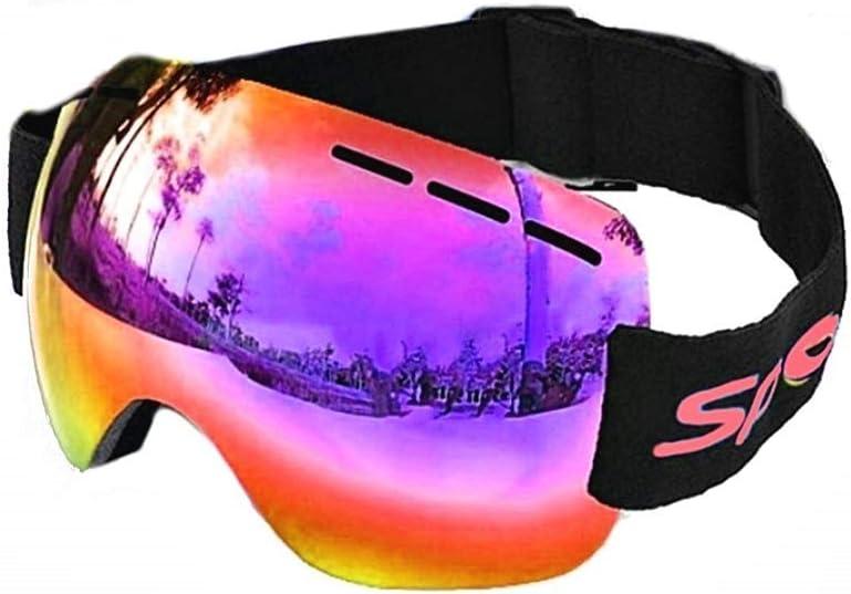 Legisdream Gafas Hombre pasamontañas Espejo Protección UV OTG antivaho Transpirable Rojo Idea cumpleaños Snowboard