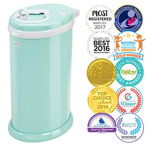 (Ubbi Steel Odor Locking, No Special Bag Required Money Saving, Awards-Winning, Modern Design Registry Must-Have Diaper Pail, Mint)