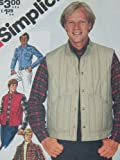 Vintage Men's Simplicity 5350 PATTERN Down Vest Shirt