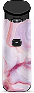 IT'S A SKIN Decal Vinyl Wrap for Smok Nord Pod System Vape Sticker Sleeve Cover/Pink Stone Marble Geode