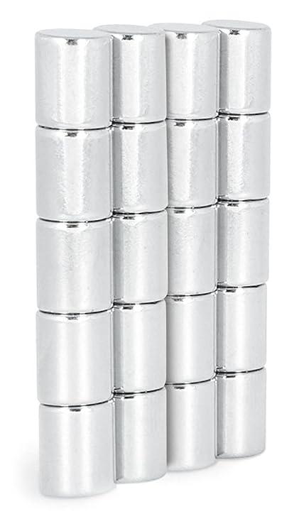 50 Stück Neodym Scheibenmagnete Zylindermagnete 5x5 mm N45 vernickelt whiteboard