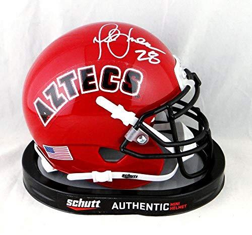 Marshall Faulk Autographed *White San Diego State Schutt Mini Helmet- Beckett Au - Beckett Authentication