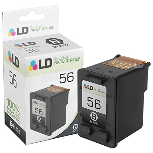 LD Remanufactured Ink Cartridge Replacement for HP 56 C6656AN (Black)