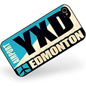 Rubber Case for iphone 4 4s Airportcode YXD Edmonton - Neonblond