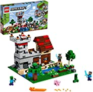 LEGO Minecraft The Crafting Box 3.0 21161 Minecraft Brick Construction Toy and Minifigures, Castle and Farm Bu