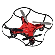 Contixo F2 Mini Pocket Drone 4CH 6 Axis Gyro RC Micro Quadcopter with 3D Flip, Intelligent Fixed Altitude, Red