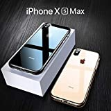 Case Compatible iPhone Xs Max, Crystal Clear Protective Cover Compatible Apple iPhone XsMax/iPhone Xs Plus 6.5 inch 2018 Ultra Slim with Air Cushion Technology & Drop Protection Ainope (Transparent)