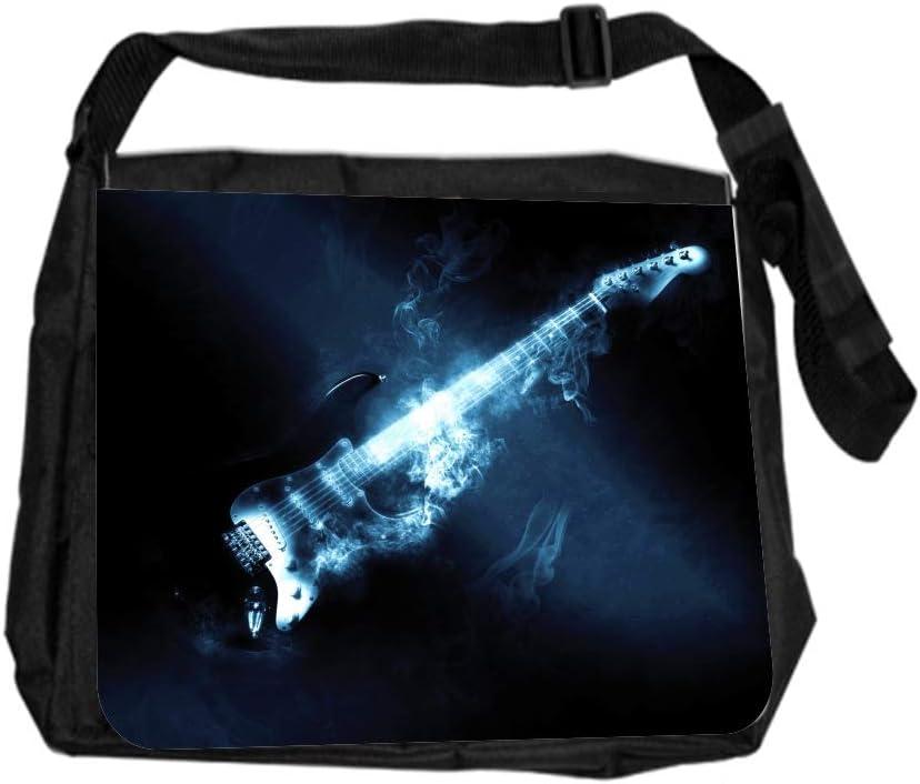 Music Guitar Smoking Cross Body Shoulder Messenger Laptop Bag