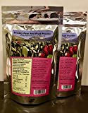 PRICKLY PEAR RED FRUIT POWDER (with Cranberry Fiber): 2-Pack Resealable Mylar Bags. (37 Day day supply per bag, 2 teaspoons daily)
