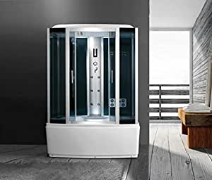 Cabina 150 x 88 6 chorros con bañera hidromasaje Box ducha multifunción baño turco Bluetooth: Amazon.es: Bricolaje y herramientas
