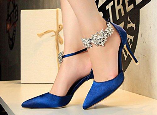 Alto De blue Sandalias O Road Crystal Multicolor Dress Prom Women Tama Personalizable Skechers eu40 Tacn Wedding Flat Satins 37 Bride Party 40 Lucky Shoes xBEIqwF5x