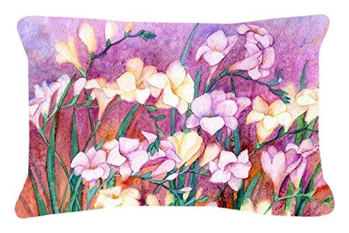 Freesia Canvas (Caroline's Treasures Freesias Fabric Decorative Pillow, 12