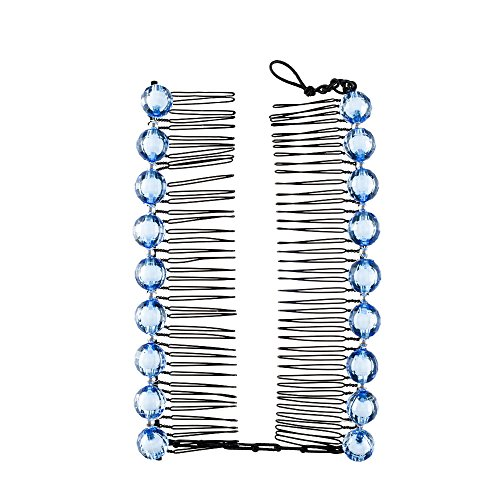 Clips 110 Video (HairZing Statement S-T-R-E-T-C-H Banana, Hair Accessory Perfect for an Easy Ponytail, UpDo or Faux Hawk, Blue, Large)