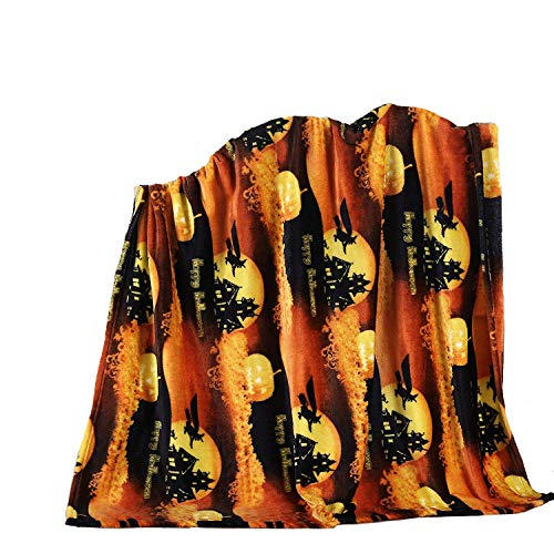 Halloween Fleece - GoodGram Ultra Plush Christmas & Halloween Themed Fleece Throw Blankets - Assorted Styles (Halloween)