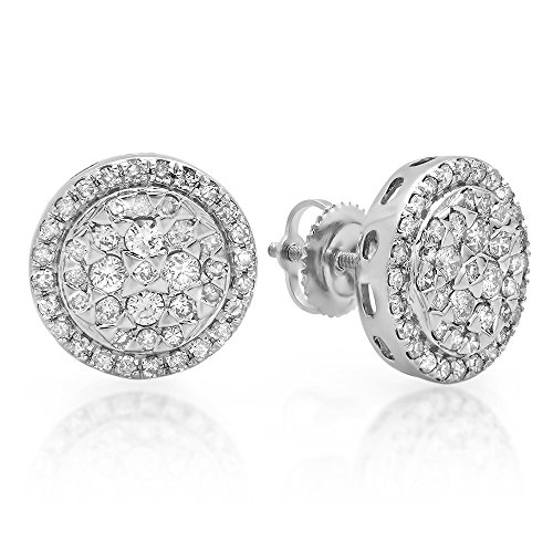 Tw Diamond Cluster Earrings - 3