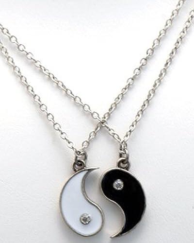 Amazon yin and yang friendship necklace set ying yang jewelry yin and yang friendship necklace set aloadofball Images