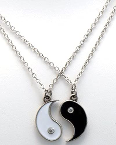 Amazon yin and yang friendship necklace set ying yang jewelry yin and yang friendship necklace set aloadofball Choice Image