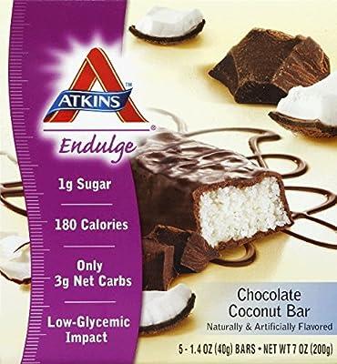 Atkins Endulge Chocolate Coconut Bar - 1.4 Oz, 5 Pack