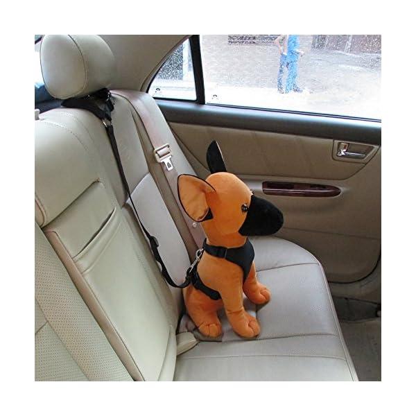 Ohkuu Dog Safety Vest Harness Sets,Soft Mesh Breathable Dog Travel Safety Vest Harness with Adjustable Seat Belt Strap… Click on image for further info. 2