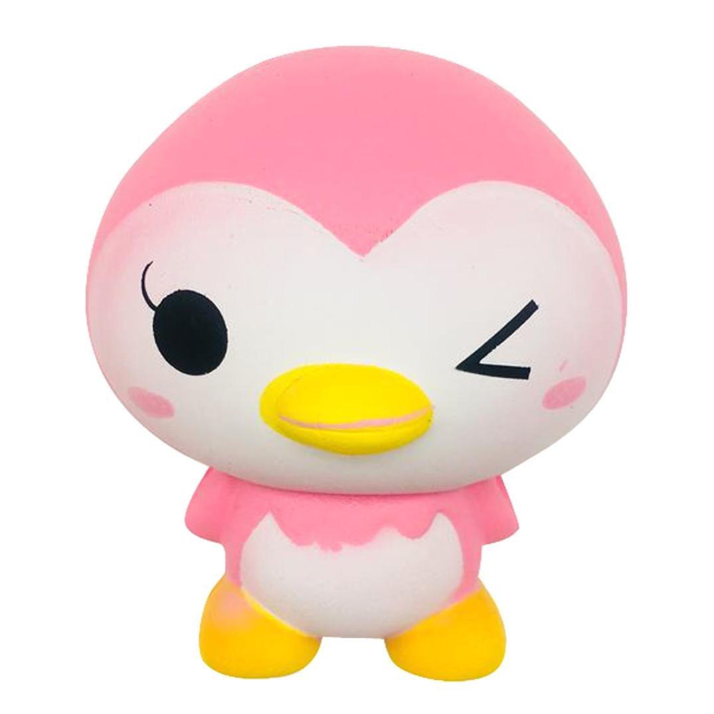 vicgrey Penguin Scorpion PU Slow-Resume Penguin Toy Pink Face 2018 Ultimi 9.5 cm Cute Penguin Cartoon profumo morbido fascino lento aumento spremere Toy Charm