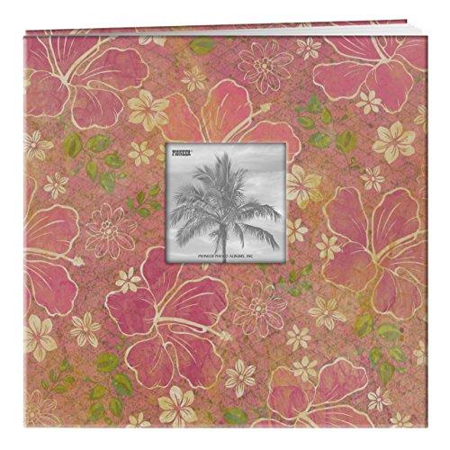 Tropical Scrapbook Albums - Pioneer 12x12 Tropical Frame Cover Scrapbook, Hibiscus