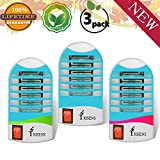 Bug Zapper Electronic Insect Killer,Mosquito Killer Lamp,Eliminates Most Flying Pests! (3P) (Blue)
