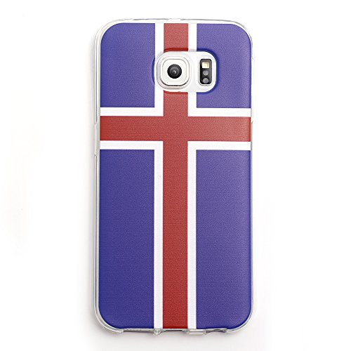 iProtect EM Schutzhülle Apple iPhone 6, 6s (4,7 Zoll) Flag TPU Soft Case Island Flagge
