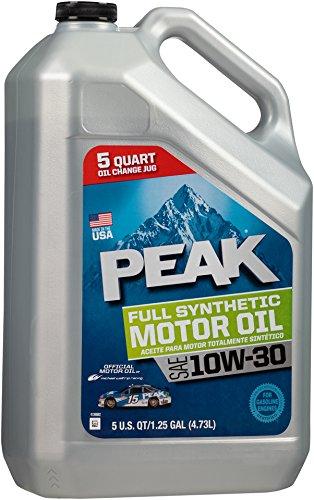 () 10W-30 Synthetic Motor Oil - 5 Quart Jug - Peak P3MS15