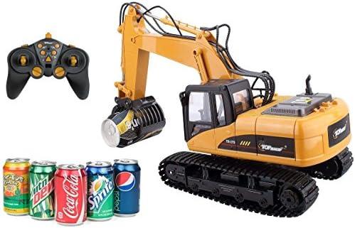 Top Race® ferngesteuerter Bagger als Kettenbagger mit Greifarm Schaufelbagger Elektrisches Spielzeug