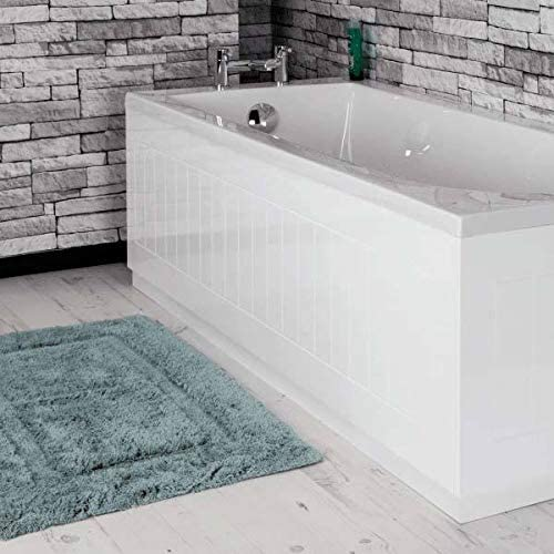 Ceramica Modern Tongue & Groove White MDF Front Bath Side Panel 1700mm Adjustable Plinth